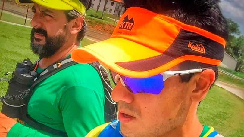 Eu e o Diego na ativa em pleno sol